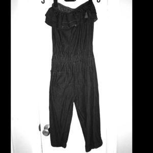 Black Denim Jumpsuit - Perfect for Fall!